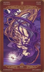 Ý nghĩa lá bài 10 of Swords trong bộ Oze69 Watchers Tarot