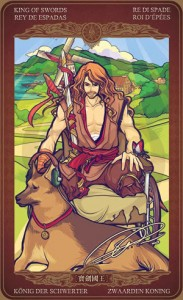 Ý nghĩa lá bài King of Swords trong bộ Oze69 Watchers Tarot