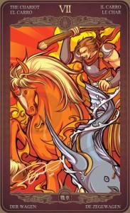 Ý nghĩa lá bài The Chariot trong bộ Oze69 Watchers Tarot