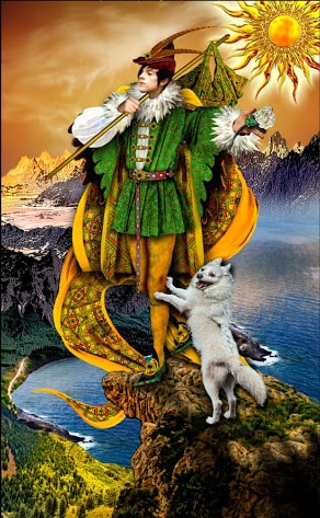 Lá 0. The Fool - Tarot Illuminati 2