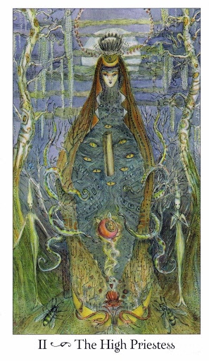 Lá II. The High Priestess - Paulina Tarot