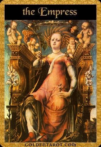 Lá III. The Empress - Golden Tarot