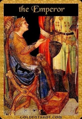 Lá IV. The Emperor - Golden Tarot