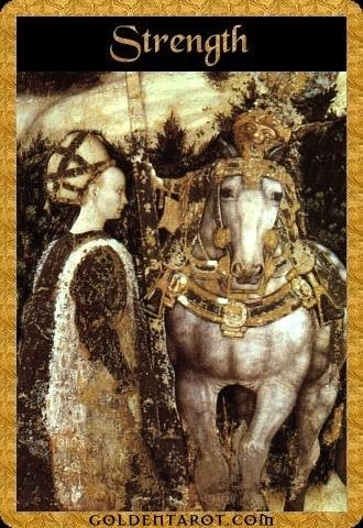 Lá VIII. Strength – Golden Tarot
