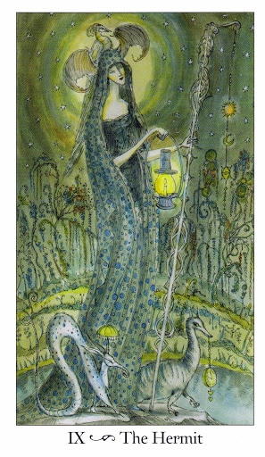 Lá IX. The Hermit - Paulina Tarot