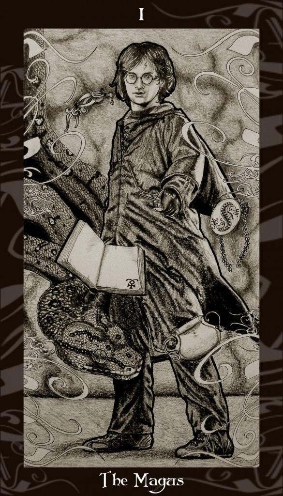 Lá I. The Magician - Harry Potter Tarot 1