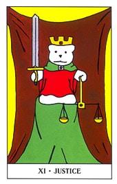 Hình Ảnh Lá XI. Justice - Gummy Bear Tarot Kênh Kiến Thức Và Tri Thức
