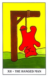 Lá XII. The Hanged Bear - Gummy Bear Tarot 1
