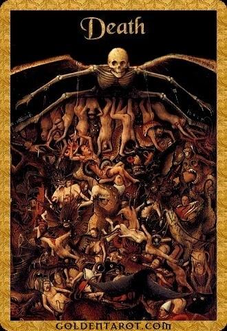 Lá XIII. Death - Golden Tarot