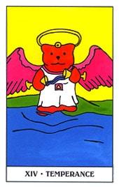 Lá XIV. Temperance - Gummy Bear Tarot 1