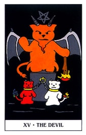 Lá XV. The Devil - Gummy Bear Tarot 1