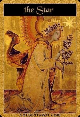 Lá XVII. The Star - Golden Tarot