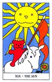 Hình Ảnh Lá XIX. The Sun - Gummy Bear Tarot Kênh Kiến Thức Và Tri Thức