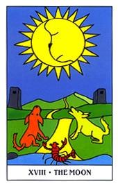 Hình Ảnh Lá XVIII. The Moon - Gummy Bear Tarot Kênh Kiến Thức Và Tri Thức