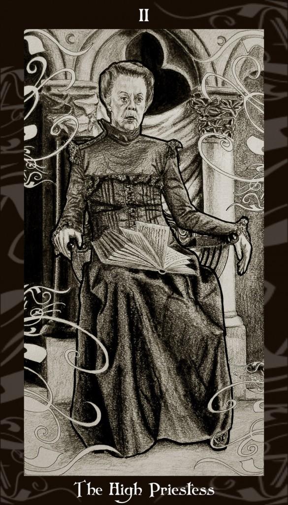 Lá II. The High Priestess trong bộ Harry Potter Tarot