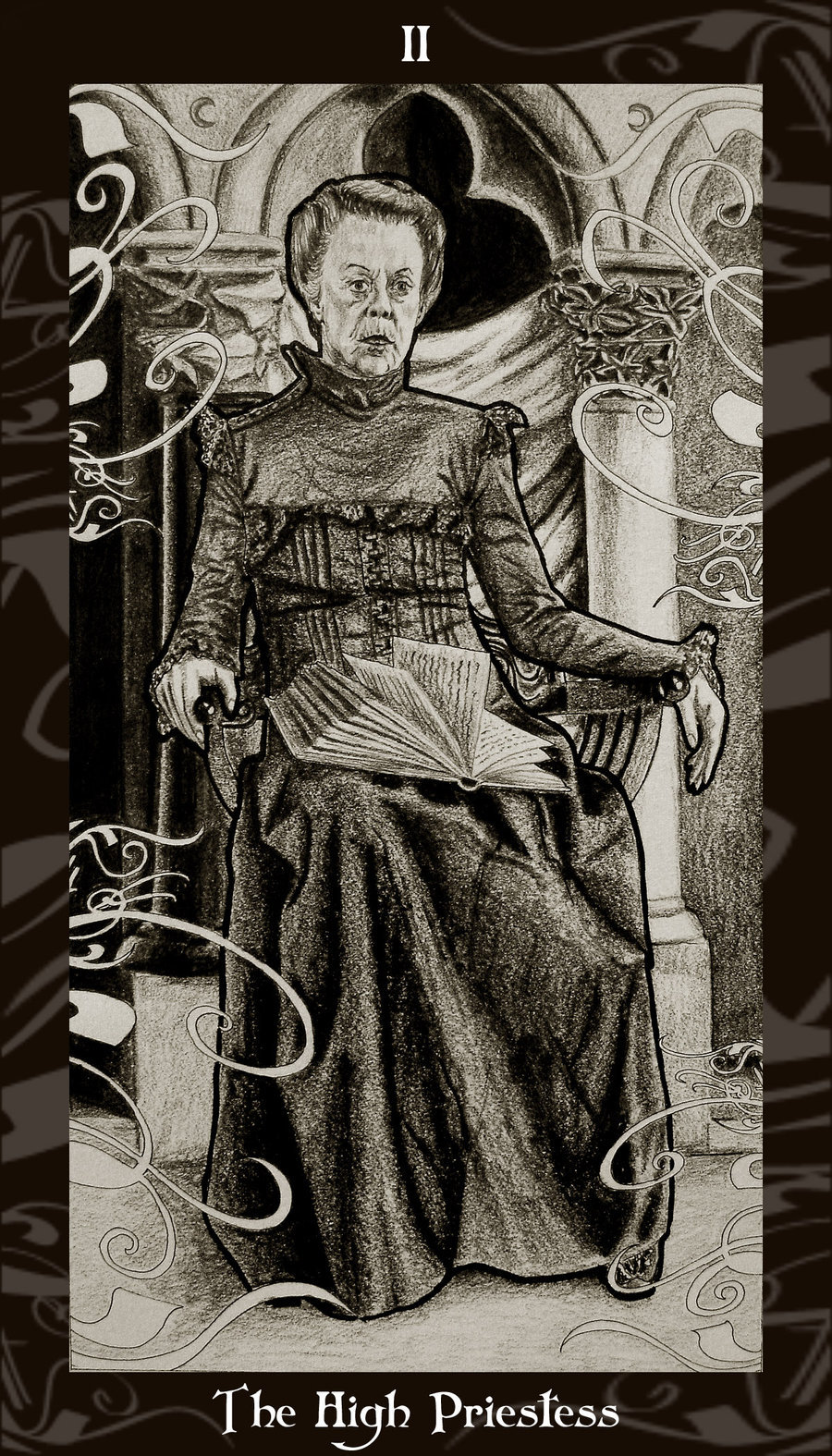 Lá II. The High Priestess – Harry Potter Tarot