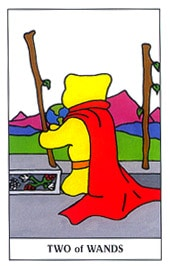 Lá Two of Wands trong bộ Gummy Bear Tarot