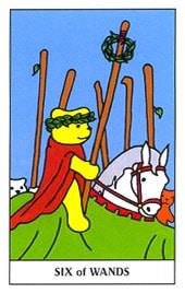 Hình Ảnh Lá Six of Wands - Gummy Bear Tarot Kênh Kiến Thức Và Tri Thức