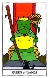 Hình Ảnh Lá Queen of Wands - Gummy Bear Tarot Kênh Kiến Thức Và Tri Thức