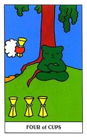 Hình Ảnh Lá Four of Cups - Gummy Bear Tarot Kênh Kiến Thức Và Tri Thức