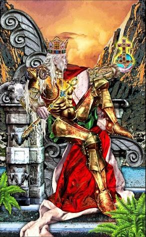 Lá IV. The Emperor - Tarot Illuminati 2