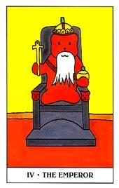 Lá IV. The Emperor trong bộ Gummy Bear Tarot