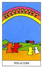 Lá Ten of Cups trong bộ Gummy Bear Tarot