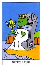 Lá Queen of Cups trong bộ Gummy Bear Tarot