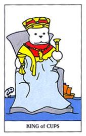 Lá King of Cups trong bộ Gummy Bear Tarot