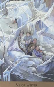 Lá Six of Winter - Victorian Fairy Tarot