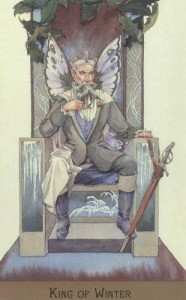 Lá King of Winter - Victorian Fairy Tarot