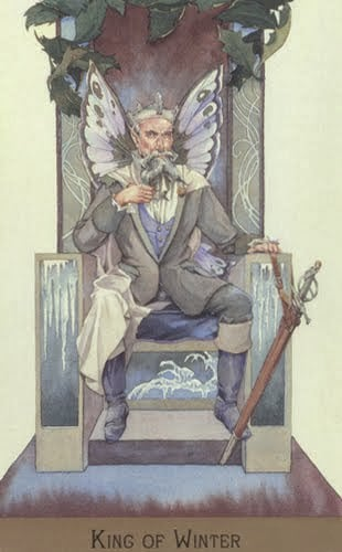 Lá King of Winter – Victorian Fairy Tarot