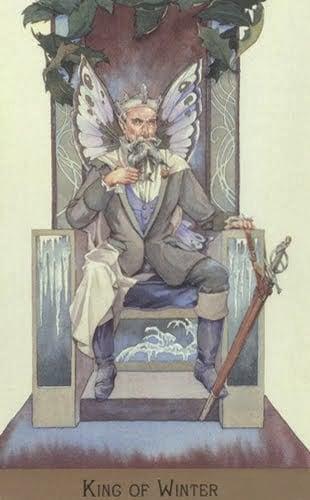 Lá King of Winter – Victorian Fairy Tarot