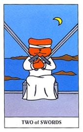 Hình Ảnh Lá Two of Swords - Gummy Bear Tarot Kênh Kiến Thức Và Tri Thức