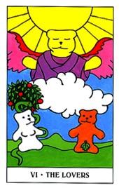 Lá VI. The Lovers trong bộ Gummy Bear Tarot