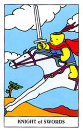 Lá Knight of Swords trong bộ Gummy Bear Tarot