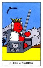 Hình Ảnh Lá Queen of Swords - Gummy Bear Tarot Kênh Kiến Thức Và Tri Thức
