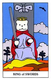 Lá King of Swords trong bộ Gummy Bear Tarot