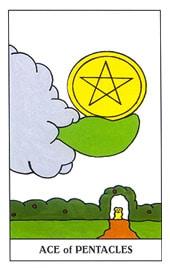 Lá Ace of Pentacles trong bộ Gummy Bear Tarot