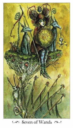 Lá Seven of Wands - Paulina Tarot