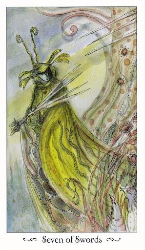 Lá Seven of Swords - Paulina Tarot