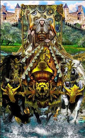Lá VII. The Chariot - Tarot Illuminati 2