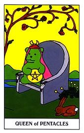 Lá Queen of Pentacles trong bộ Gummy Bear Tarot