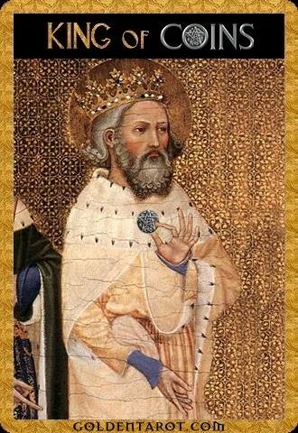 Lá King of Coins - Golden Tarot