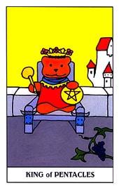 Hình Ảnh Lá King of Pentacles - Gummy Bear Tarot Kênh Kiến Thức Và Tri Thức