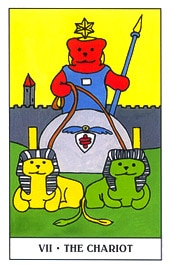 Lá VII. The Chariot - Gummy Bear Tarot 1