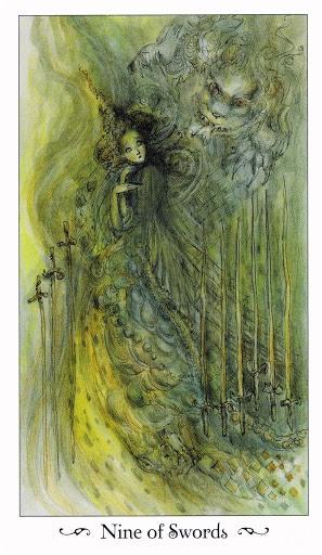 Lá Nine of Swords - Paulina Tarot