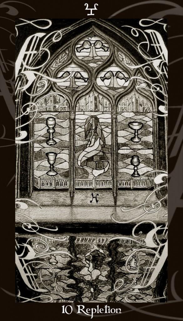 Lá Ten of Cups trong bộ Harry Potter Tarot