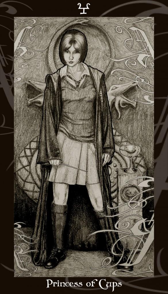 Lá Princess of Cups trong bộ Harry Potter Tarot