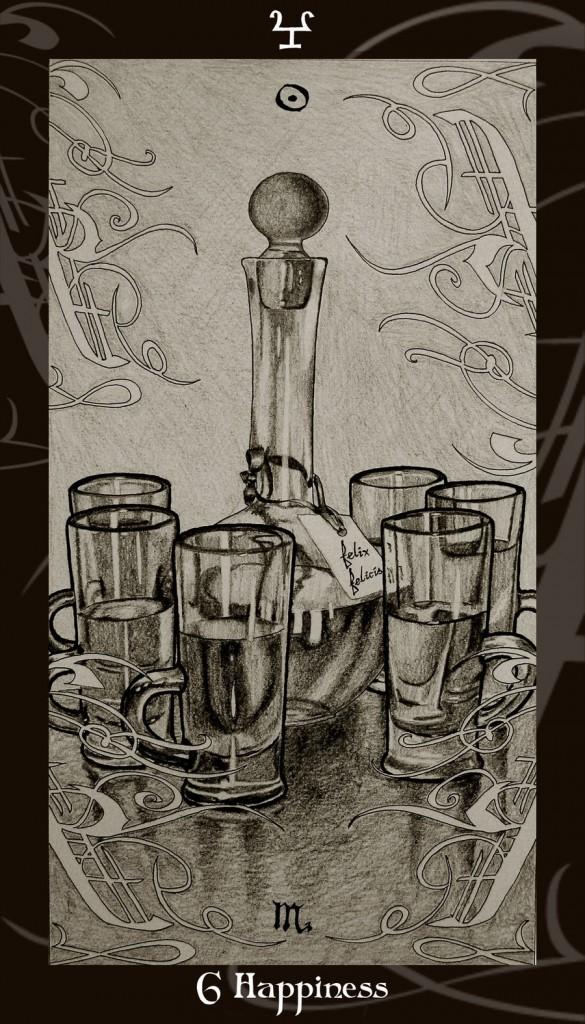 Lá Six of Cups trong bộ Harry Potter Tarot